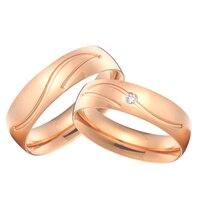 Пользовательские titanium ювелирные изделия обручальные кольца Комплекты розовый цвет золотистый Альянс anillos Анель aneis femininos