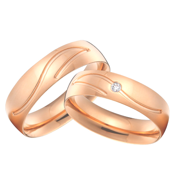 custom titanium jewelry wedding bands rings sets rose gold color alliance anillos anel aneis femininos все цены