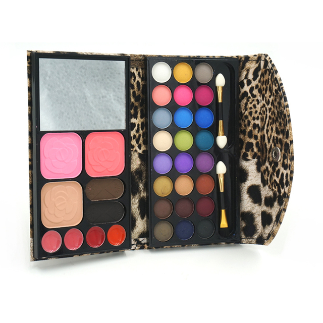 7in1 24 color Matte Naked eye shadows + 2 blush + pressed powder + 4 Lip frozen + 2 Eyebrow Professional Makeup Sets Palette