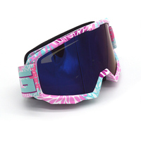 Pink High quality Goggles Sport racing off road motocross goggle sunglasses motorcycle dirt bike Anti UVLenses