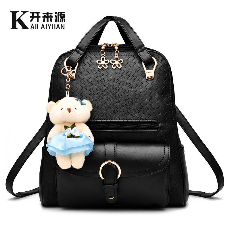 Backpack bag new spring and summer tide female backpack student fashion leisure bear