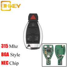 цена на BHKEY IYZ3312 3+1 Buttons 315 Mhz Remote Car Key For Mercedes-Benz W169 W245 W203 W208 W209 W204 W210 W211 2000-2010 Hot Sale