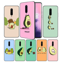 Cute avocado Art Print Soft Black Silicone Case Cover for OnePlus 6 6T 7 Pro 5G Ultra-thin TPU Phone Back Protective