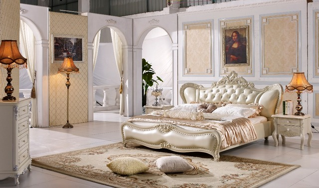 US $2585.0  Die moderne designer leder weichen bett/große doppel  schlafzimmer möbel, amerikanischen stil in Die moderne designer leder  weichen ...