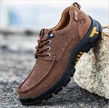02ca31ae614c Стильные мужские удобные кроссовки непромокаемая обувь походная обувь  Нескользящая уличная спортивная обувь кожаные кроссовки мужские по