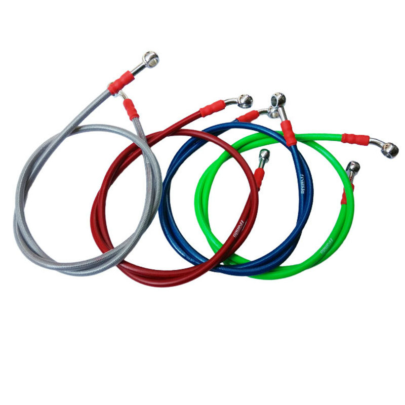 High quality 950mm 1100mm 2200mm Universal Motorcycle Hydraulic Reinforced Brake Clutch Oil Hose Line Pipe Fit ATV Dirt Pit Bike motoo motorcycle adelin hydraulic reinforced brake or clutch oil hose line pipe 850mm 950mm 1100mm