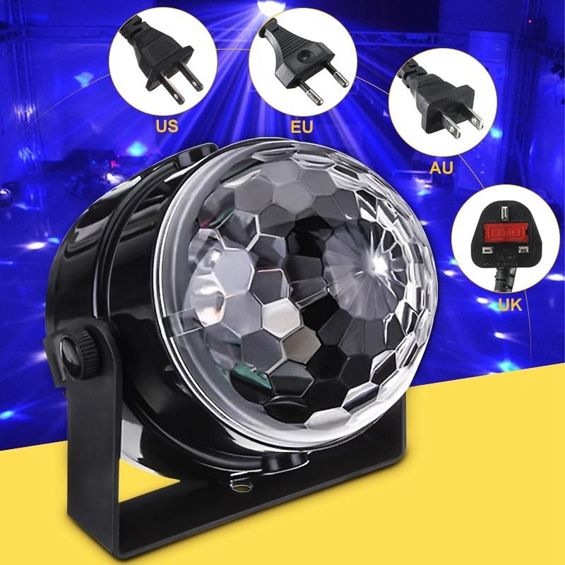 LED Stage Light Mini RGB Projector Crystal Magic Ball Stage Lighting Effect Lamp DJ Club Light Bar Party Disco Decor AU/US/EU/UK ac110 240v dj disco party club light mini led r