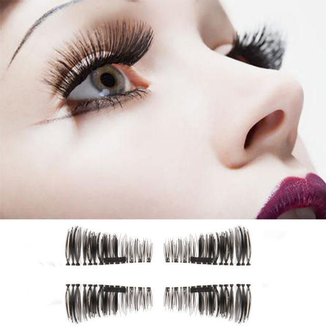 2017 New 8 Types 1 Pair 3d Black Magnetic False Eyelashes Lashes