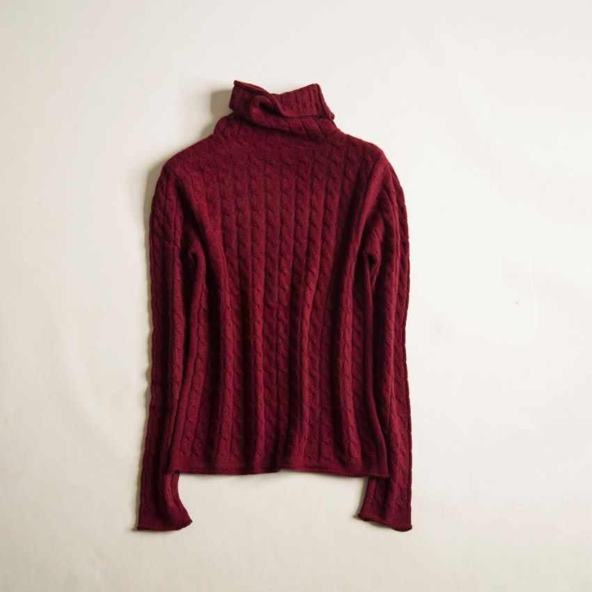 2019 여성 봄 가을 겨울 새로운 캐시미어 스웨터 트위스트 꽃 높은 칼라 패션 니트 풀오버 슬림 스웨터 소프트