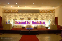 2016 Top selling 20ft*10ft waterfall wedding backdrops ,wedding stage curtain banquet stage decoration wedding decor