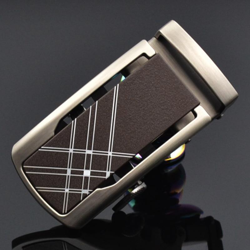 Fashion Men's Business Alloy Automatic Buckle Unique Men Plaque Belt Buckles For3.5cm Ratchet Men Apparel Accessories LY125-1027