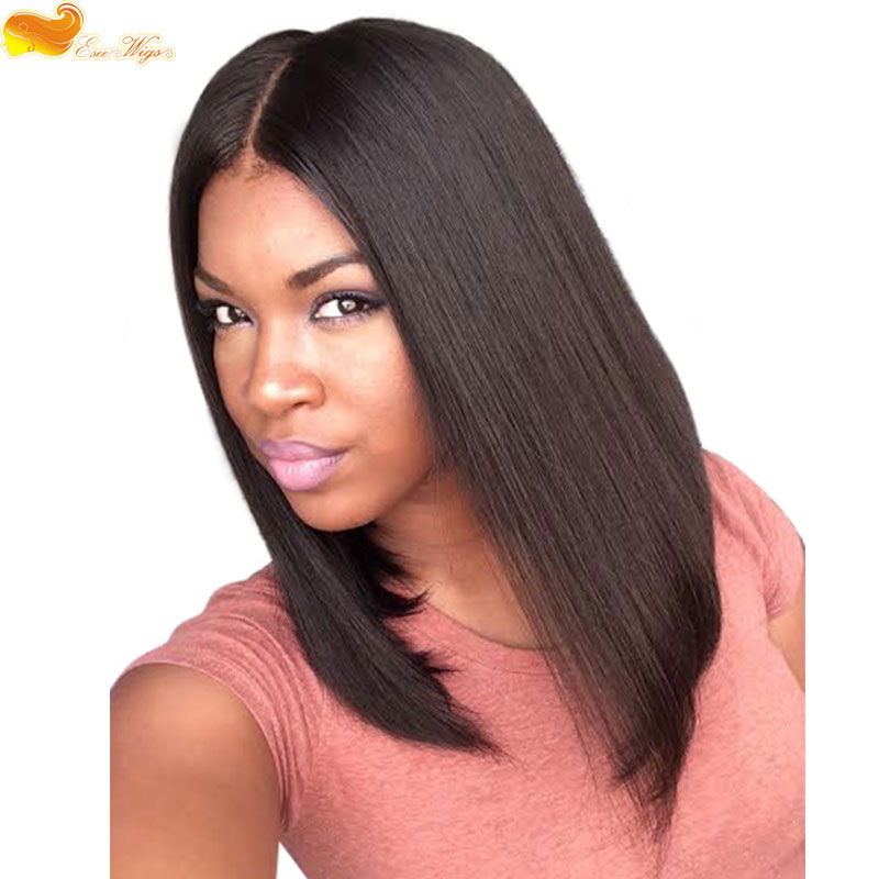 Top Quality Short Bob Straight Human Hair Wigs Bob Full