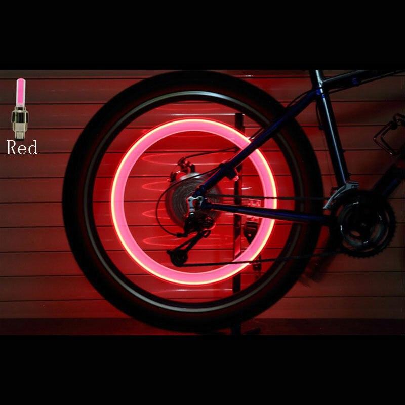 8X Bike Bicycle Car Wheel Motorcycle Tire Valve Cap Neon Lamp LED Flash Light U