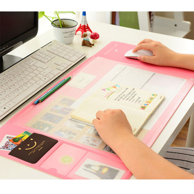 4 Colors Big Capacity Korea Stationery Multi Function Desk Pad Desk Organizer Storage Set Protect Wrist Warmth Pad Free Shipping