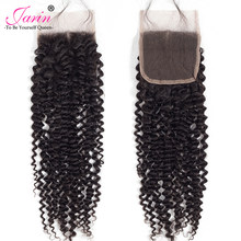 Jarin Hair 10 Pieces/lot Kinky Curly Closure 8-22 inch 4*4 Free Part Human Hair Kinky Curl Lace Closure Can Mix Length non Remy(China)