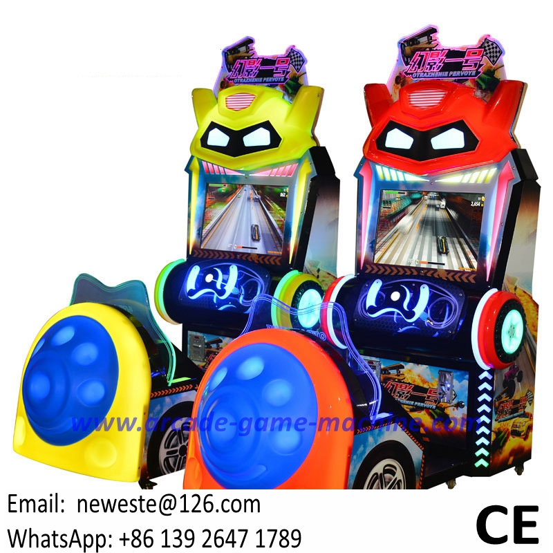 Very Popular Amusement Arcade Simulator Kids Driving Car Racing Games Machines For Children
