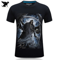 2017 3d Tshirt Free Shipping Creative Novelty Summer 3D Print O Neck T Shirt Cotton Casual