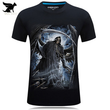 2017 Summer 3d t shirt hip hop Horror Skull print O-neck t-shirt Casual Tee shirt plus size S-6xl high quality Tops cool Tees