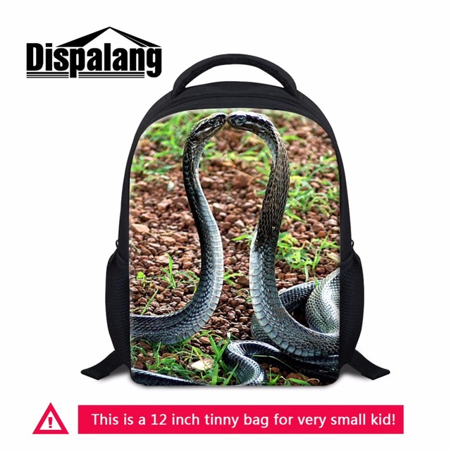 919c9acc00 Dispalang children s 12 inch backpack back to school book bags for kids  unique snake pattern on dailybag artistic small back bag