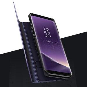 Image 3 - FDCWTS Flip Caso Capa De Couro Para Samsung Galaxy A3 2017 A5 2017 A7 2017 A320F A520F A720F Luxo Visão Clara tampa da Caixa do telefone