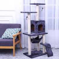 Cat Tree Scratchers Cats Scratching Climbing Furniture Jumping Toys With Ladder Animal Sleeping Play Organizer Accessories Case
