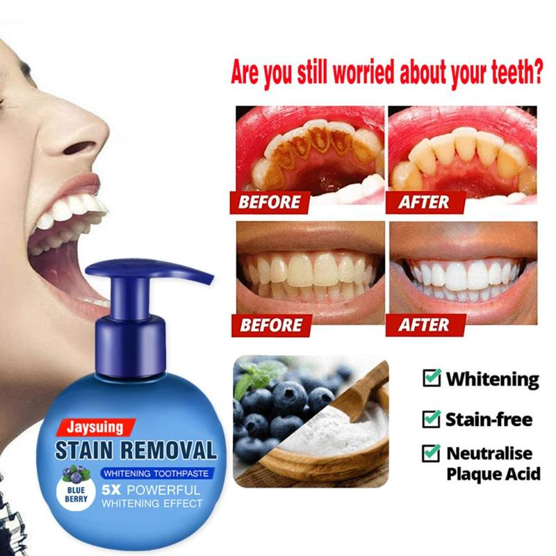 Intensive Stain Removal Whitening Toothpaste Fight Bleeding Gums for Teeth Baking Soda Refreshing Press Type Fruit Toothpaste