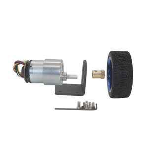 Image 5 - 37 مللي متر قطر محركات ذات تروس 12 فولت 24 فولت بطارية تيار مباشر المحرك مع التشفير و عجلة عدة لتقوم بها بنفسك JGB37 520 Gear Motor