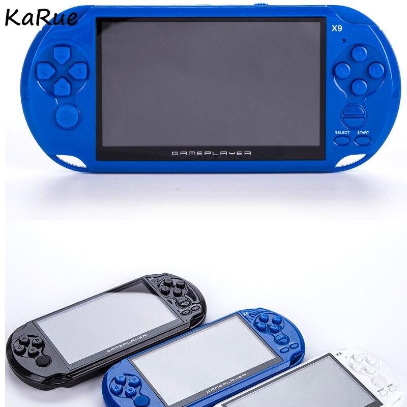 Rétro classique jeu portable MP5 jeux vidéo portable intégré 1000 + jeux Support télécharger joueurs de jeu portable