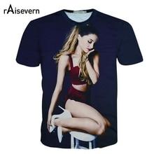 3D T Shirt Ariana Grande T-shirt Short Sleeve Casual O-neck Tee Top Harajuku Summer Tops Streetwear