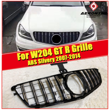 W204 GT R style Front Grille grill For MercedesMB C Class C180 C200 C250 C280 C300 C350 C400 C63 look Grills without sign 07-14
