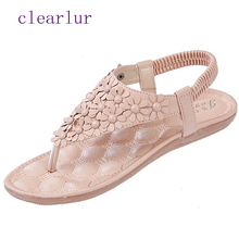 Women Sandals Flower Summer Women Shoes Casual Flat Sandals Women Flip Flops Ladies Beach Shoes  C0508 недорго, оригинальная цена