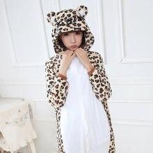 Leopard Медведь Пижамы Unisex Взрослых Животных Onesies Фланель Толстовка Косплей Костюм Onesies Panda Пижамы Пижамы Домашняя Одежда