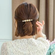 CHIMERA Pearls Barrettes Korea Hair Clips for Women Ladies Simple Beads Hairpin Ins Fashion Alloy Clamp Headwear Accessories