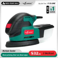 LANNERET Electric Mouse Detail Sander 220W Multiple Sander Lightweight Compact Sander Dust Collection System Sanding