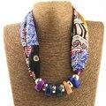 Perlas de resina Collar de Bufanda de seda Pañuelo Para El Cuello Bufandas Del Silenciador de Las Mujeres de Seda 2016 Nuevo Diseñador de la Marca Bufandas NK988