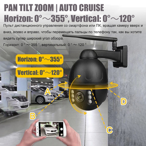 Image 4 - OwlCat kablosuz sokak Dome IP kamera Wifi 5MP 2MP siyah gözetleme tur oto Cruise mikrofon hoparlör ile konuşma 128GB kart