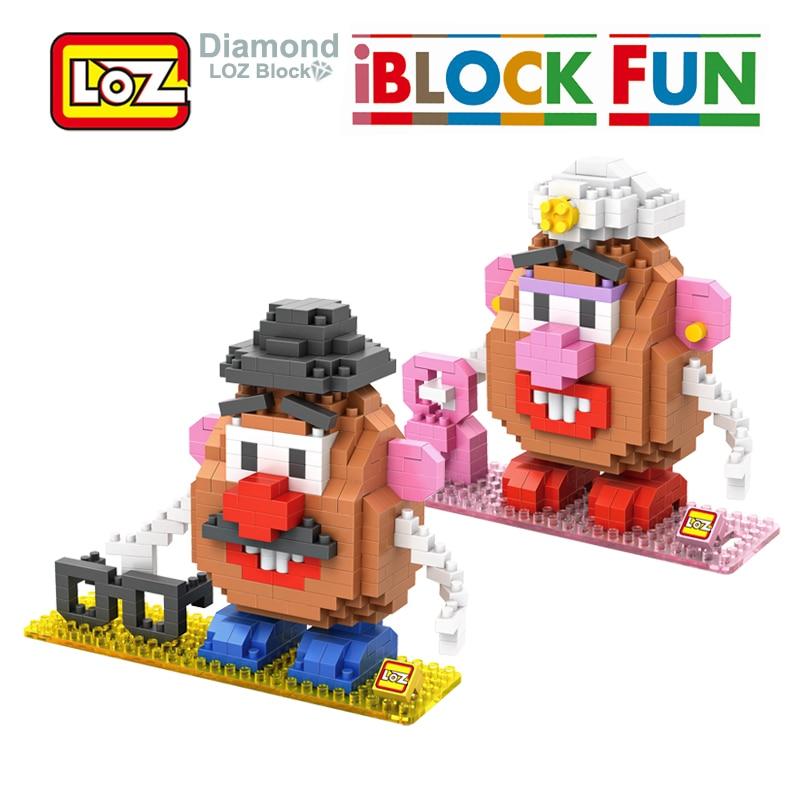 LOZ Toys Story Mr Potato Head Toy Action Figure Diamond font b Building b font Blocks