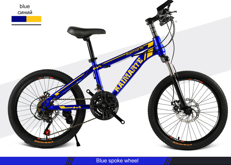 HTB1ZQIBL9zqK1RjSZFpq6ykSXXa4 Children's bicycle 20inch 21 speed kids bike Children's variable speed mountain bike Two-disc brake bike various styles bicycle