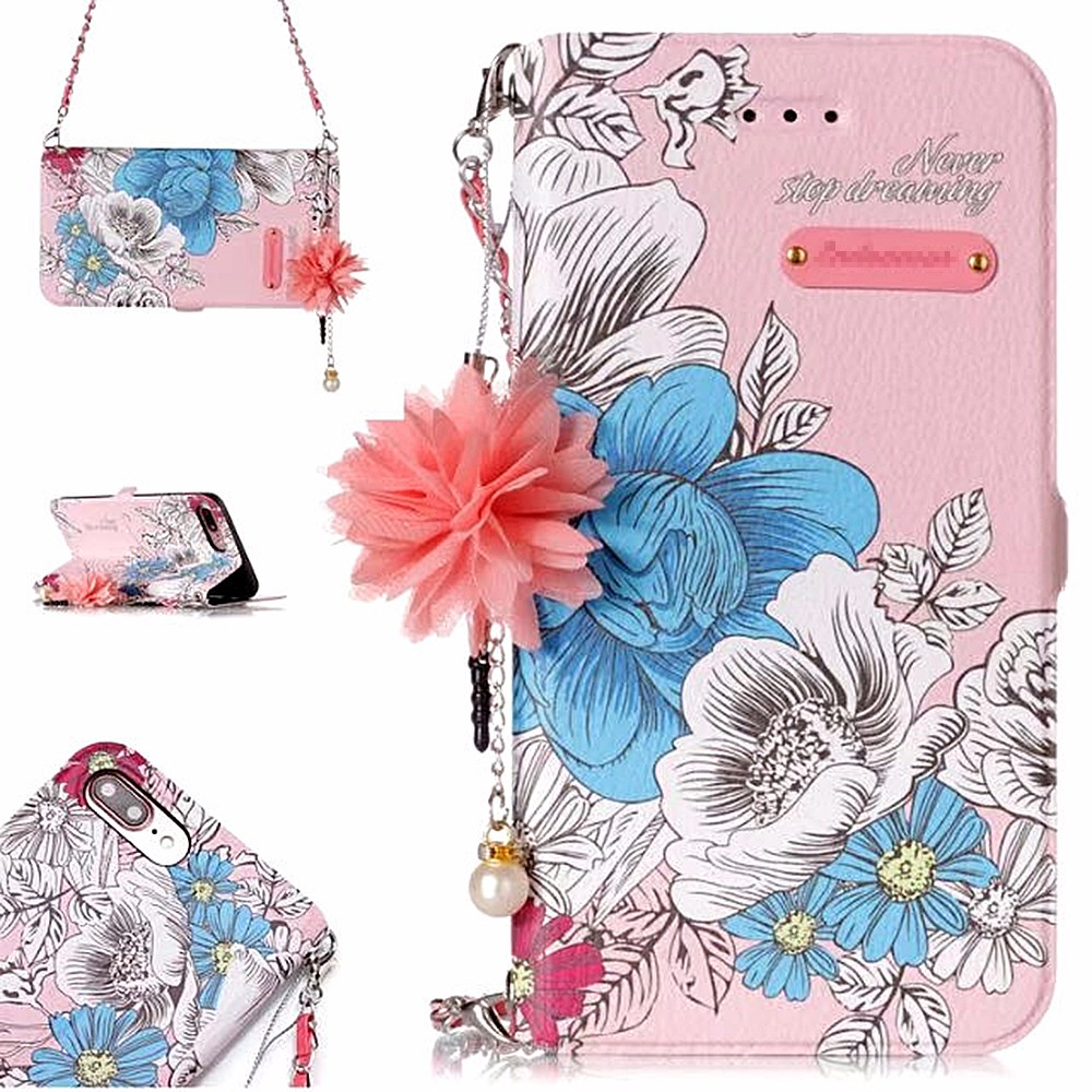 Кожаный чехол для телефона для samsung Galaxy S7 S7edge S8 S8plus Флип Мягкий чехол для телефона для samsung Galaxy S9 S9plus цветочный Валле
