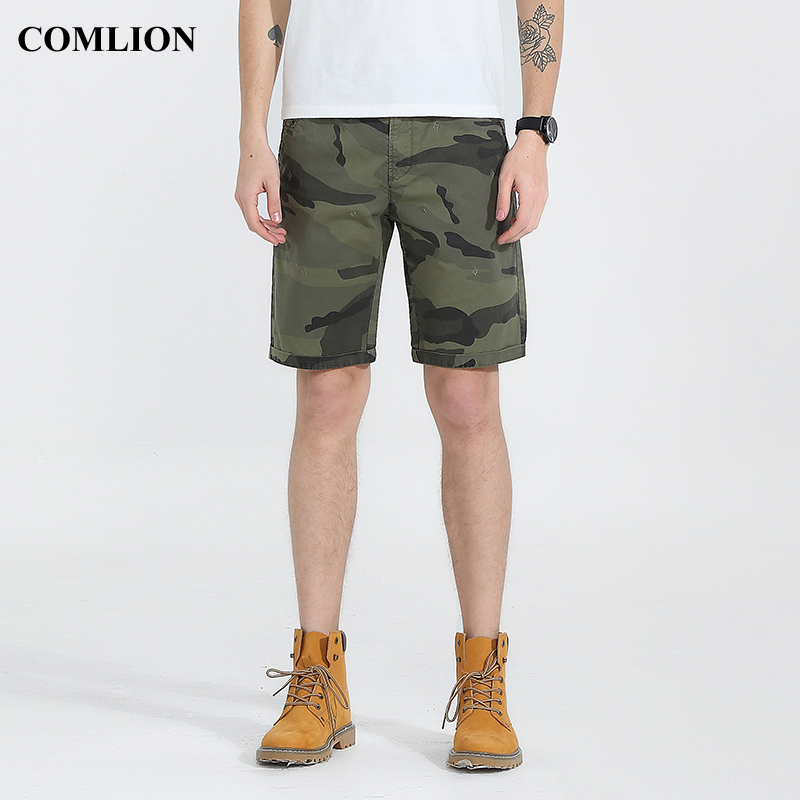 Summer Cotton Casual Shorts Men Bermudas Board Shorts 2018 New Brand Cargo Clothing Army Camouflage Short Fashion Plus Size C7