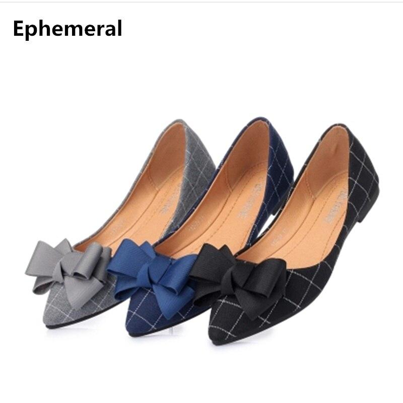 Couverture Zapatos black 41 Toile Mujer De Chaussures Pointu beige Taille 35 Tissu Conduite Blue Plat Bout Talon Éphémère Mocassins Dames Noeud Plaid 7Rqz4TRwB