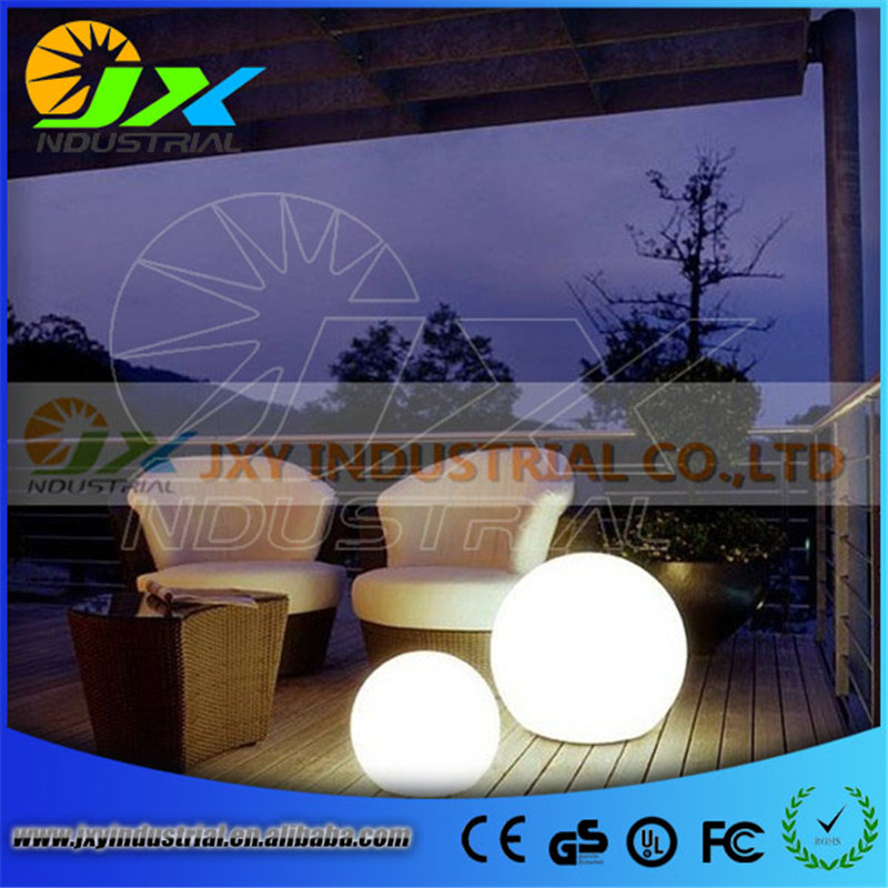 waterproof led rechargeable RGB floating pool ball 30CM with remote