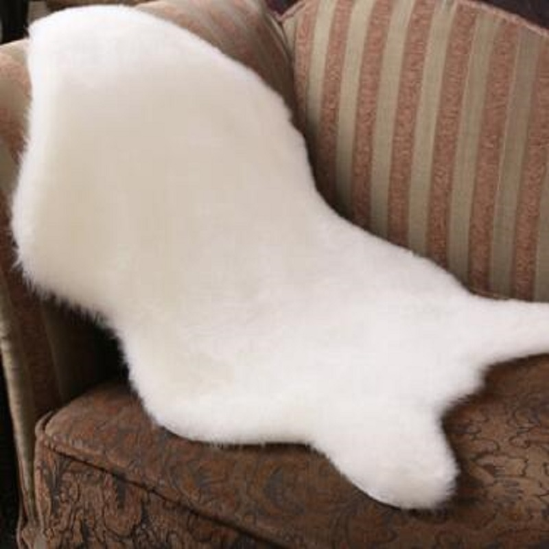 Cushions Floor-Chairs Carpet Seat-Pad Sofas Hairy Faux-Sheepskin Fluffy Hot for Super-Soft