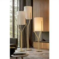 Modern gold iron floor American Creative bedroom living room study decorative floor lamp LO875