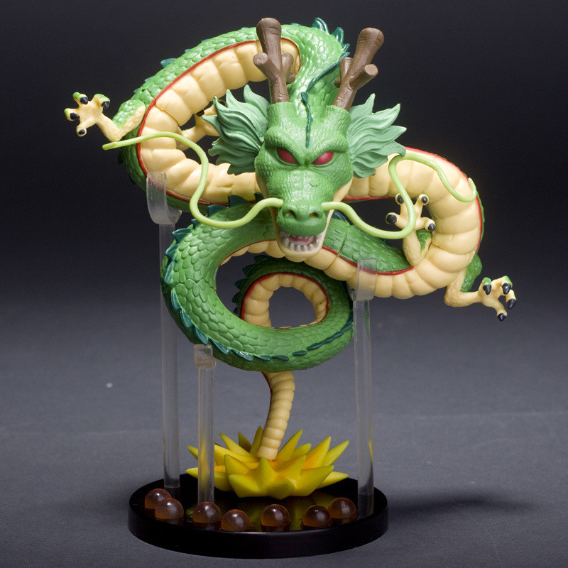 SAINTGI Dragon Ball Z Action Figures Collectible Toy Anime Shenron Shenlong Pvc Toys Green Model Movie & Tv Soldier Set Items banpresto wcf dragon ball shenron pvc action figures 14cm dragon ball z mega shenron collectible model toy figuras dbz dragon