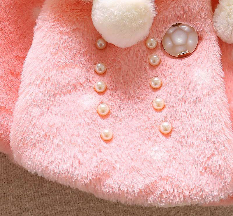 Winter warm thick velvet jacket for baby girls coat princess jackets (1)