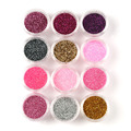 Blueness Nail Salon 12 Botella/Set Colorido Lentejuelas Del Brillo Brillante Polvo de La Mezcla Para Mujer de Belleza Decoración de Uñas de Arte