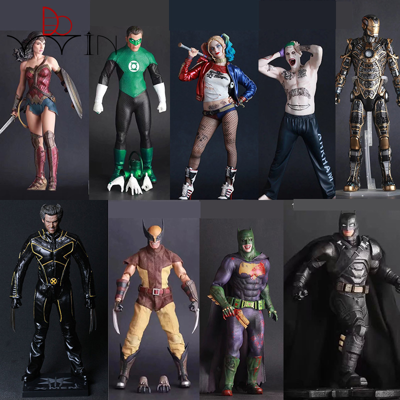 цена на X-man Suicide Squad Joker Action Figure scale painted figure Batman Imposter Ver. Joker PVC figure Toy Anime