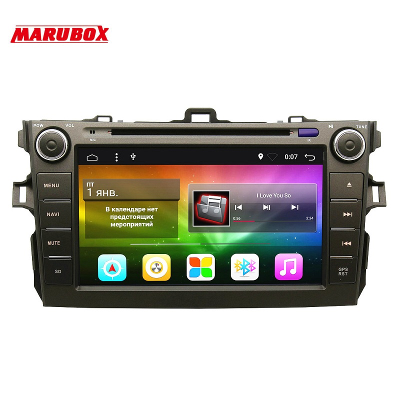 MARUBOX 8A105A4 Voiture Lecteur Multimédia pour Toyota corolla 2007-2011, Quad Core, Android 7.1, DVD, GPS, Radio, 2 gb RAM, 32 gb ROM