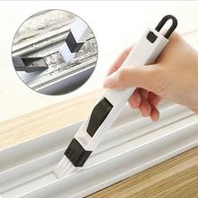 Window Groove Cleaning Brush With Dustpan Screen Tools Small Handheld Clean Brushes YH-459743